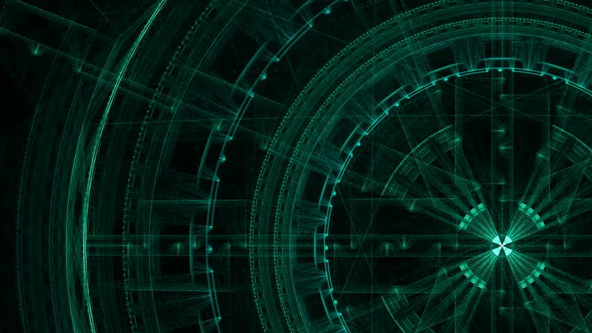 Science Fiction Matrix Like Blue Technology Light Grid In
