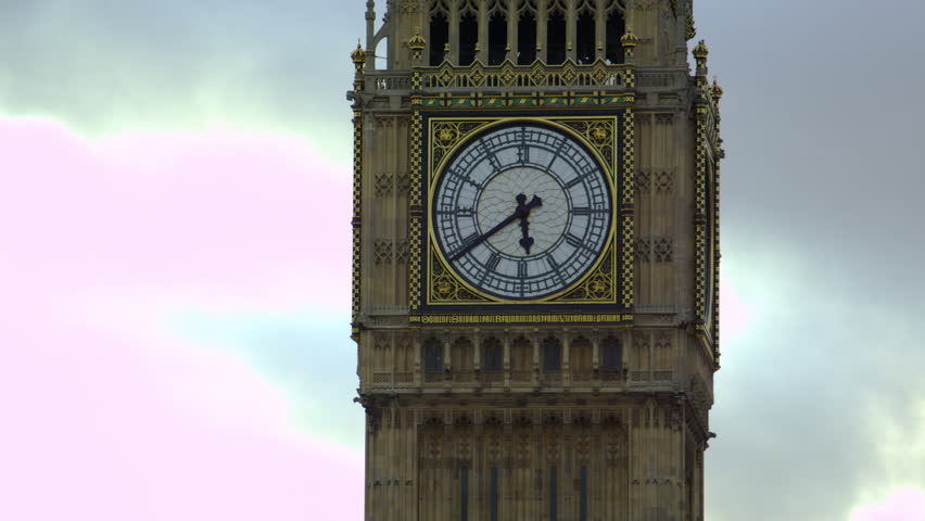 Big Ben Clock, Close-up. Night View Of The House Of ...