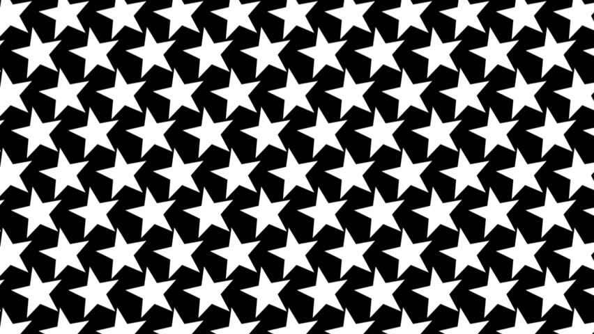Black And White Star Op Art Background Stock Footage Video 5826416