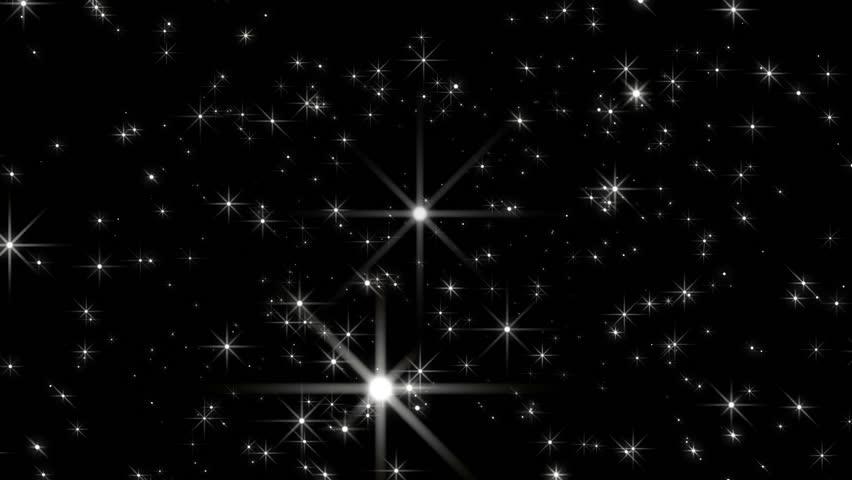 Starflight3 - Black Background - Stylized… - Royalty Free Video