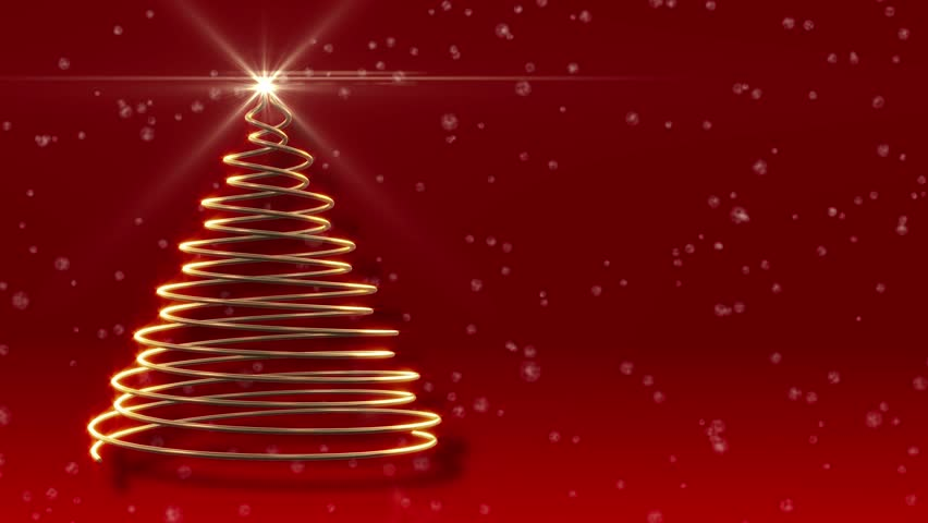 Abstract Christmas Tree Festive Red Stock Footage Video 100 Royalty Free 5928326 Shutterstock