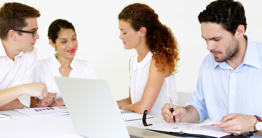 Business people having a meeting in the office | Shutterstock HD Video #5935346