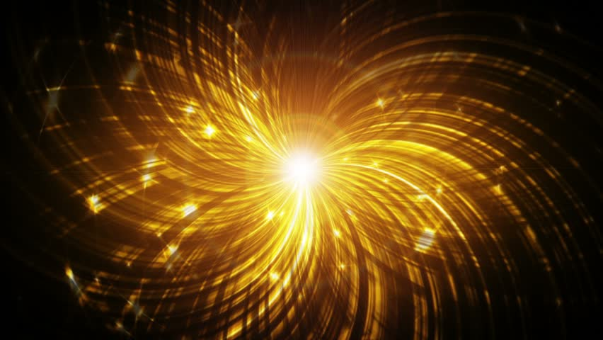 Abstract Fantasy Motion Background Shining Lights Glowing Energy Waves And Sparkling Fireworks Stile Particles
