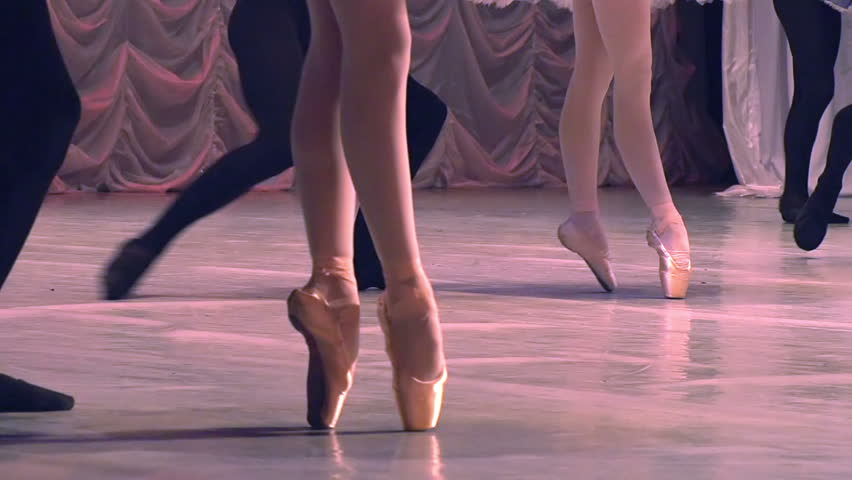 Ballet Dancing Couples. Dancing couples show classical ballet pas. Slow Motion at a rate of 120 fps