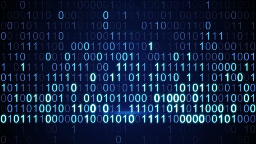 Digital binary data scan loop background  | Shutterstock HD Video #6007811