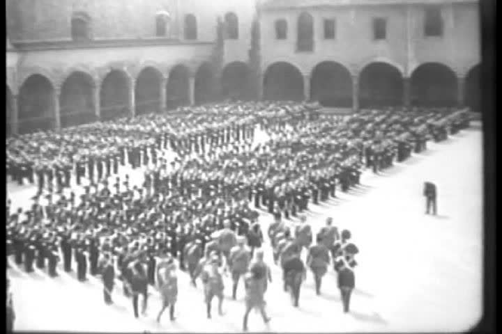 CIRCA 1930s - Mussolini parade in 1930.