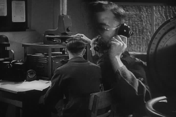 CIRCA 1940s - Captured 1942 German Military training film about the use of high frequency radio