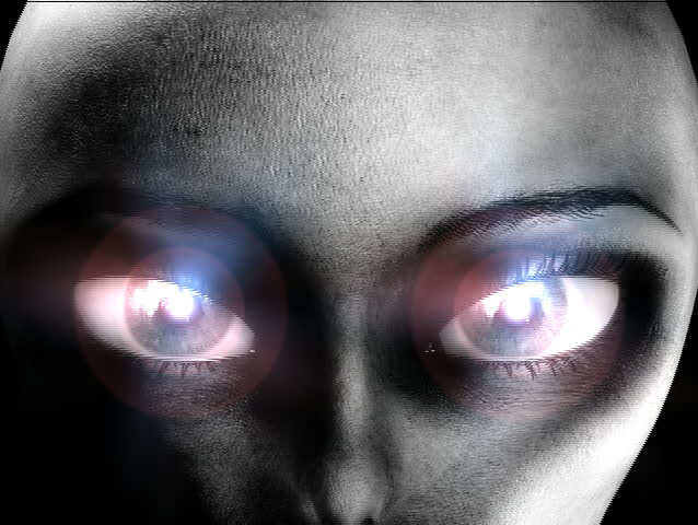 An alien with hypnotic eyes.