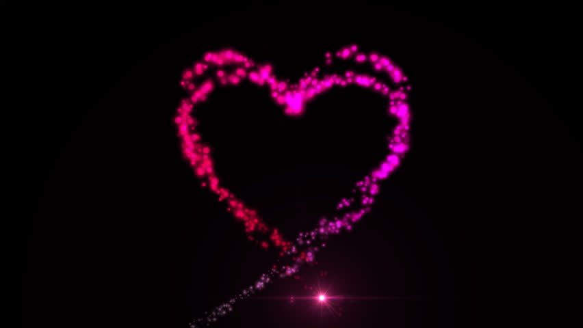 Bokeh Heart Shape Of Light Background Stock Footage Video: Colorful Bokeh Lights Heart Shape. Computer Generated