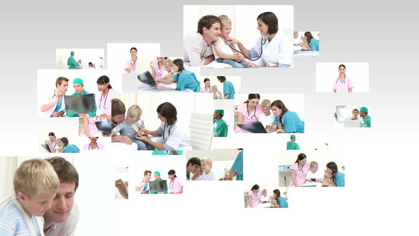 Scene showing many doctors at work in full HD1080   | Shutterstock HD Video #608560