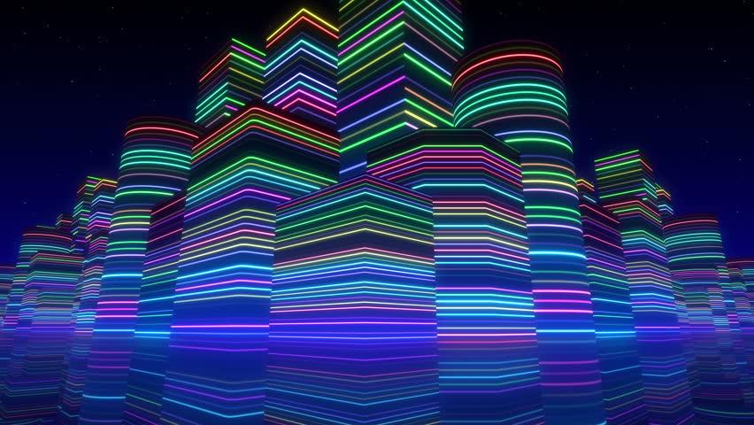 City Neon Lights. #6153026