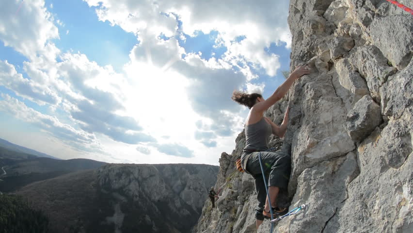 Cristina Pogacean Piolet d'or nominee Woman climbing sport route in Turzii Gorge