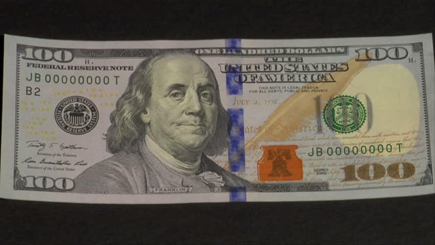 CIRCA 2010s - New $100 bills are printed at the U.S. Treasury.