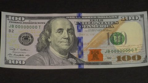 CIRCA 2010s - New $100 bills are printed at the U.S. Treasury.