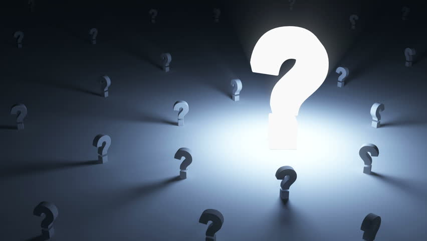 Glowing Blue Question Mark Stock Footage Video 3894581