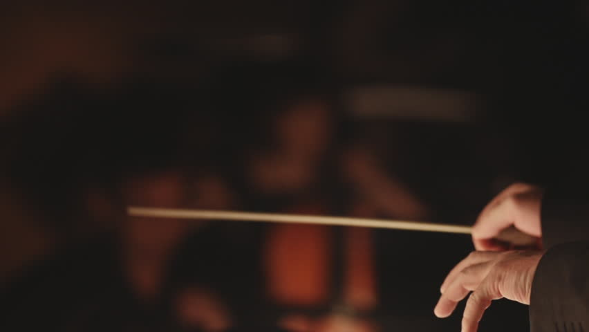 Symphony orchestra stock footage conductor hands | Shutterstock HD Video #6266201