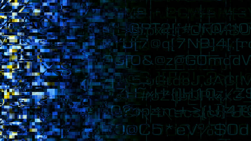 HD - Video Background 2155: Abstract Digital Data Forms Pulse And ...