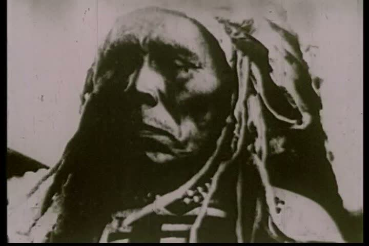 CIRCA 1910s - Very early silent footage of American Indian tribes in America.