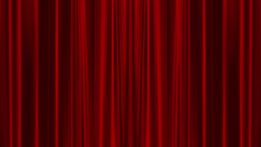 4K opening of red curtain with alpha chanel included | Shutterstock HD Video #6293936