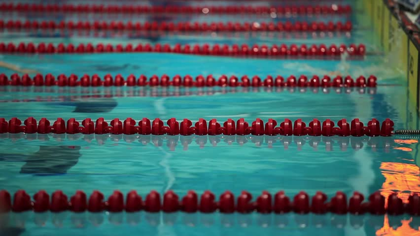 Swimming Pool Lane Lines Background swimming lane marker close to stock footage video 5291804