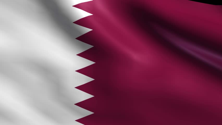Flag Of Qatar Background Seamless Loop Animation #6311186