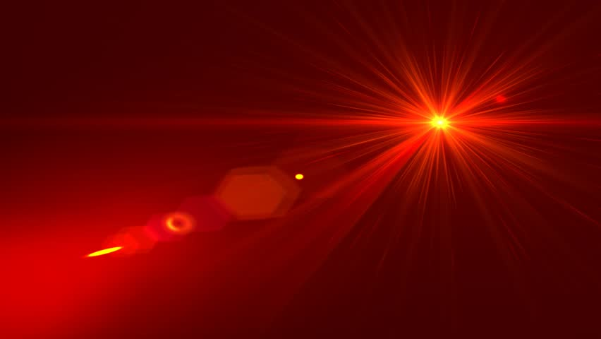Red Star Lens Flare Abstract E Background Cgi