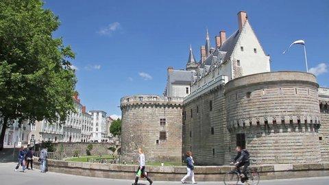 Castle in Nantes, France