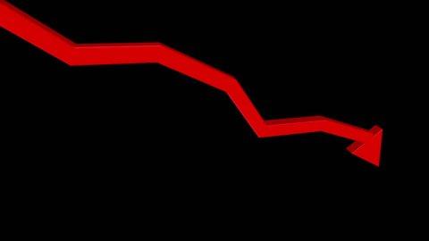 A red 3D arrow heads down.  With optional luma matte.