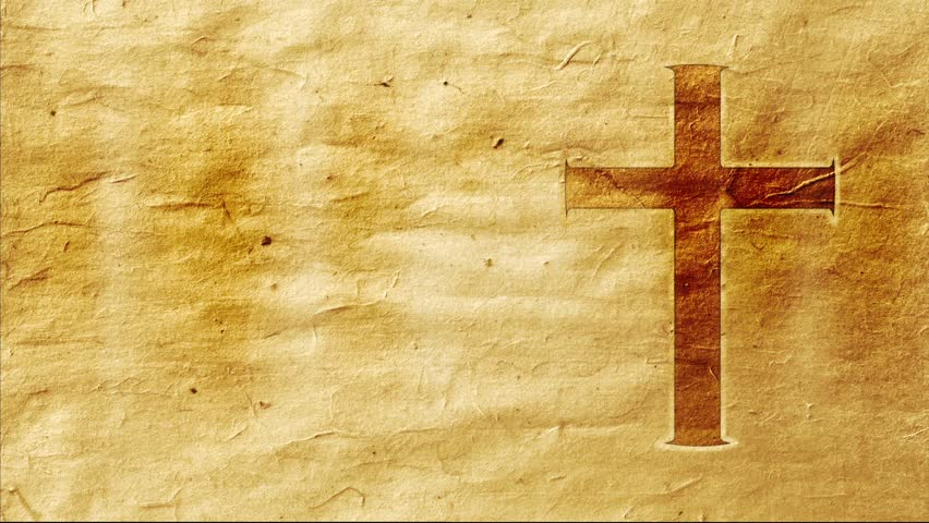 A Cross On Parchment with Stock Footage Video (100%