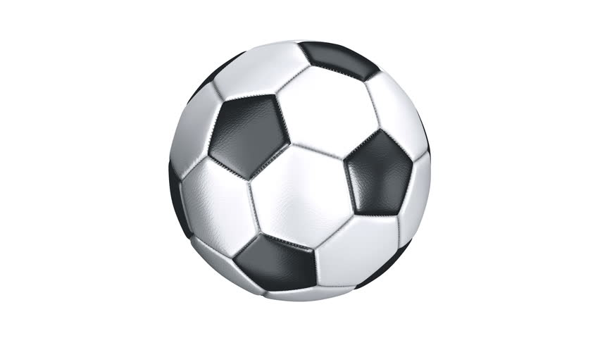 Photorealistic leather soccer ball rotating on the white background. Alpha channel included. Seamless loop. More options available - check my portfolio.