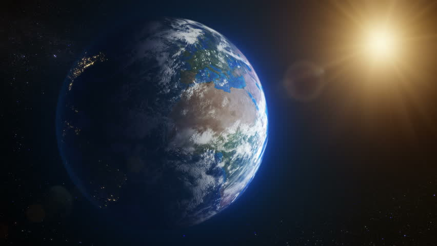 Beautiful view of the Earth seen from space. Loopable. MORE OPTIONS IN MY PORTFOLIO. | Shutterstock HD Video #6409016