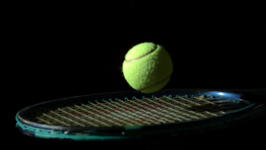 Animated Tennis Racket And Ball Stock Footage Video
