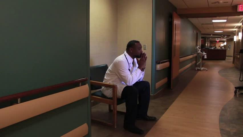 Doctor receiving bad news