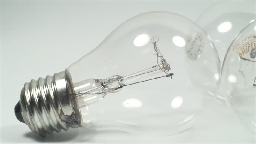 Economic Light Bulbs On A White Background, Power, Light, Eco, Friendly, Pan | Shutterstock HD Video #6545216