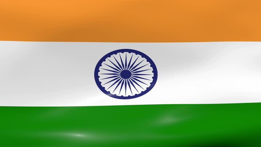 For Indian Flag Hd Animation: Container Ship With Fluttering Indian Flag Animation Stock