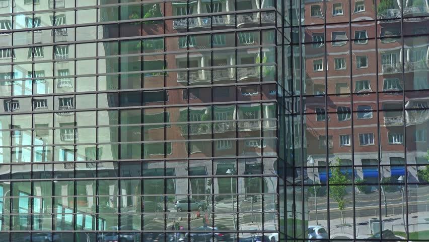 Modern Architecture Videos clouds on glass facade - modern architecture in hamburg june 2014