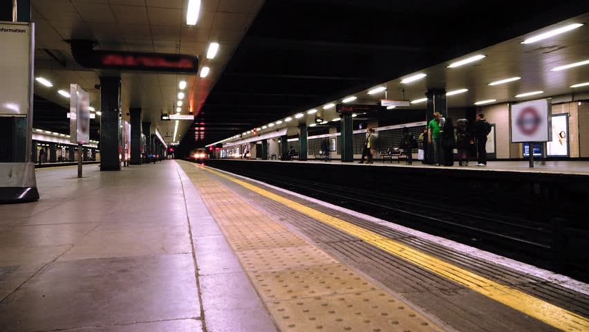 Lodon Underground Trains Arriving And Departing