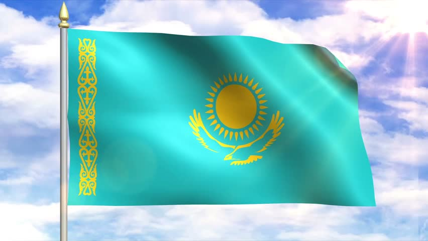How to make Kazakhstan flag animation - YouTube |Kazakhstan Animation