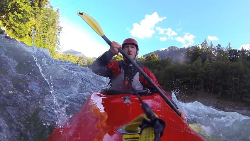 Whitewater kayaking. Skykomish River, WA