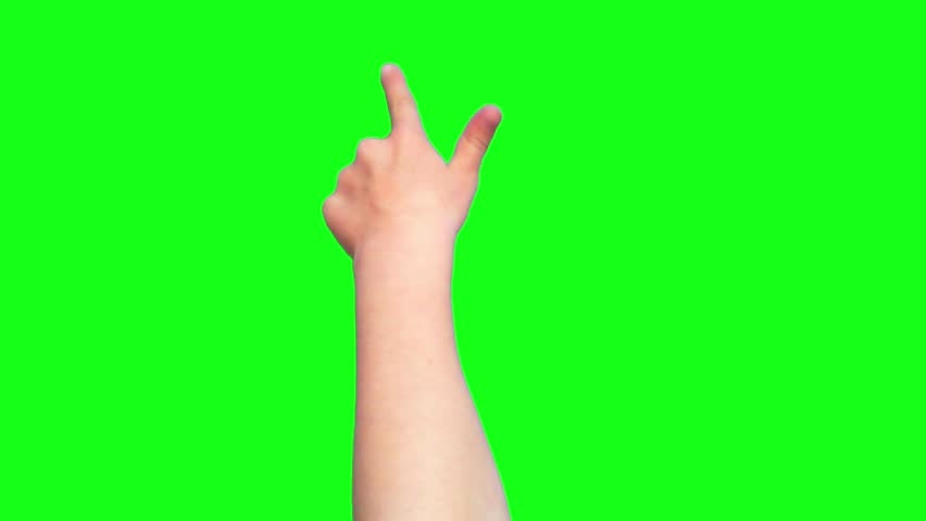 Kid's hand gestures, showing the uses of computer touchscreen #6680096