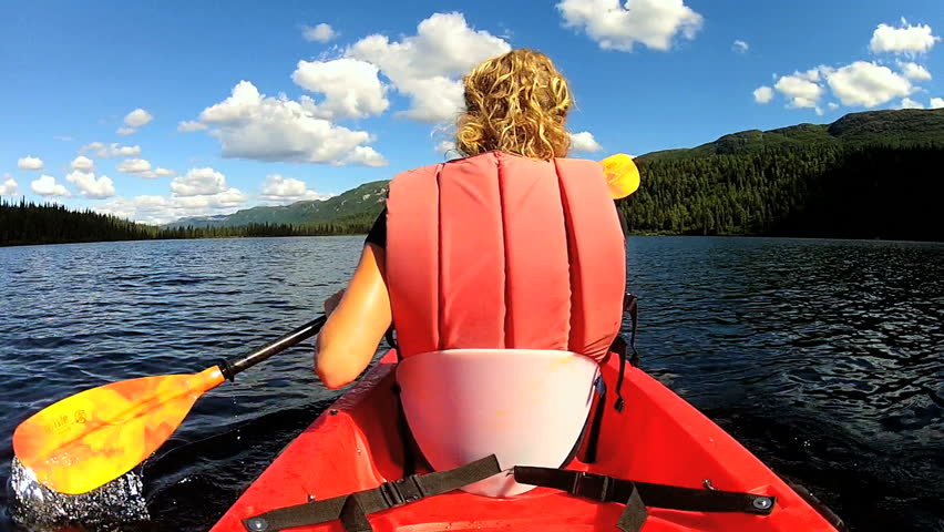 Female Achieving Her Ambition Remote Wilderness USA Female - Usa northern hemisphere