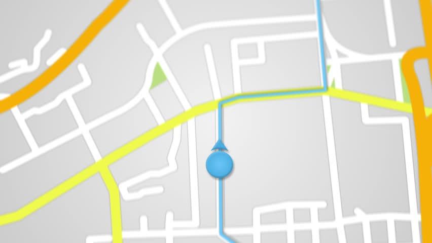 city map gps navigation  seamless stock footage video  100