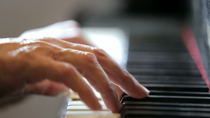 aged hands playing classical music at the piano: musician, arrangement, keys
