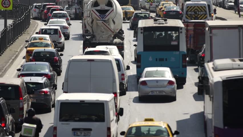 Traffic in Istanbul Turkey | Shutterstock HD Video #6739486