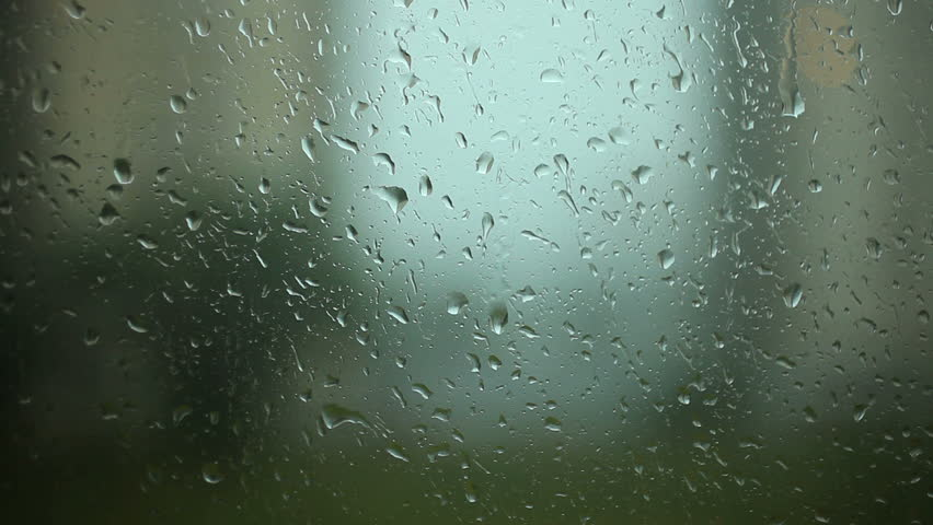 Rain drops on the Window window glass