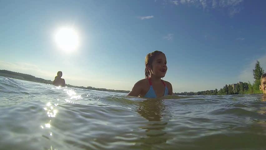 Children at lake | Shutterstock HD Video #6818356
