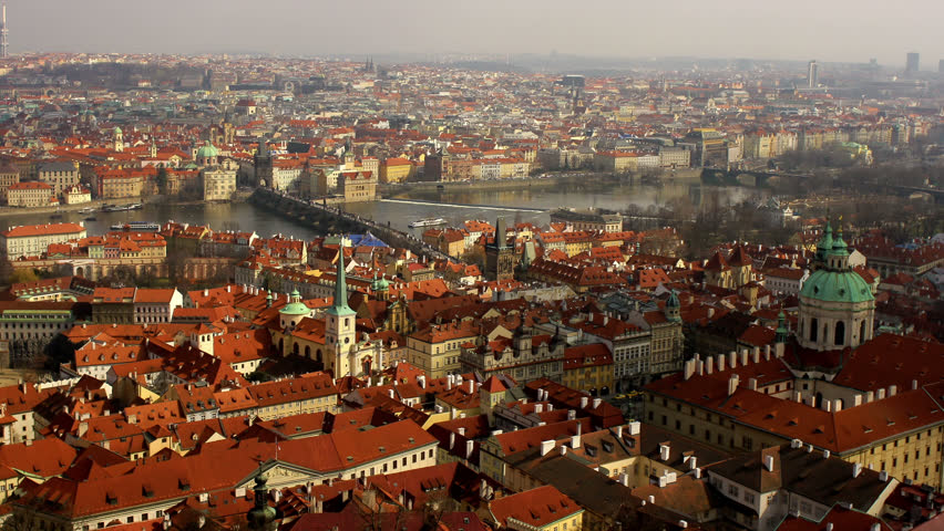 PRAGUE, CZECH REPUBLIC, APRIL 2013 View over Prague, Czech Republic | Shutterstock HD Video #6928726