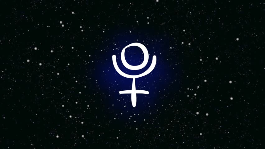 Stock Video Of Ancient Symbol For Planet Venus On 6930829