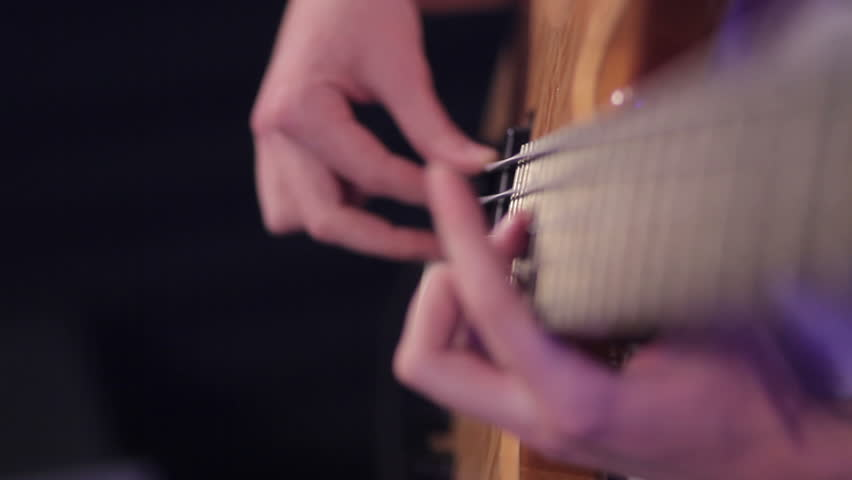 Playing The Bass Guitar | Shutterstock HD Video #6945166