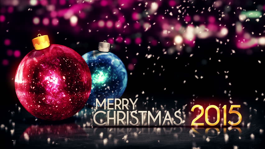 Merry Christmas And Happy New Year 2015 4k Hd Desktop: Merry Christmas Happy New Year Colorful Baubles Background